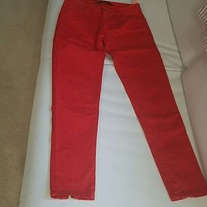 Ladies new no tags red jeans  by ZARA